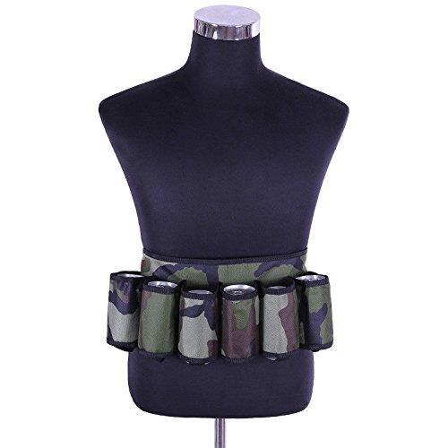 Dewin Bier-Halter - Six-Pack-Bier-Gurt-Flaschen-Gürteltasche im Freien, beweglicher Getränk-Getränk-Halter (Color : Army Green) (Six Pack Bier)