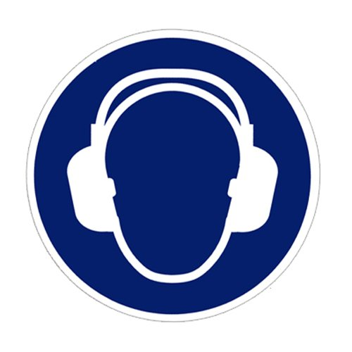 Gebotszeichen Gehörschutz benutzen Folie selbstklebend 100 mm ISO