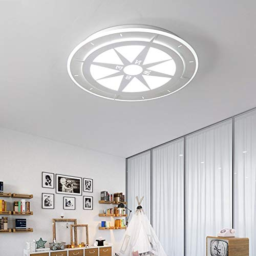 Persönlichkeit Kompass Wohnzimmer LED-Licht Lampe Durchmesser 42cm weiß monochrom warmes Licht