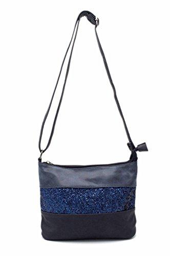 Gallantry - borsa a Tracolla, da Donna, con Glitter e strass Blu