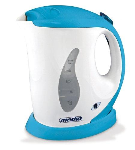 Mesko MS-1236A - Hervidor de agua, 0.6 litros, color azul