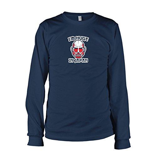 TEXLAB - Huge in Japan - Langarm T-Shirt, Herren, Größe XXL, dunkelblau (Recon Corps Kostüm)