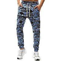 ITISME Jeanshosen Mens Camouflage Hose Tethers elastische Gürtel kleine Füße beiläufige Hosen