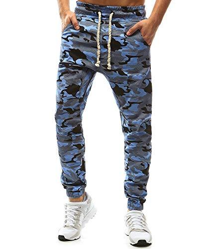 ELECTRI-Homme-Pantalons-Sport-Running-Jogging-Fitness-Baggy-Survtement-Rayure-Sports-de-Loisirs-Mode-Casual-Atomne-Hiver-XXL-Bleu-A