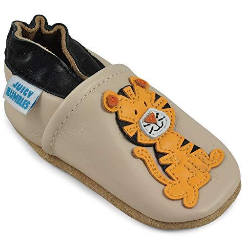 Scarpine neonato - scarpe neonato in morbida pelle - scarpe bambino primi passi - seduta tigre - 6-12 mesi
