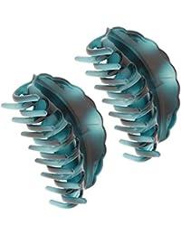 F Fityle 2 teilig Damen Haarkrebs Haarklammer Haargreifer Haarclis Haarspange Haarzwicker Hair Claw Spange für Bad, Reise oder Alltag