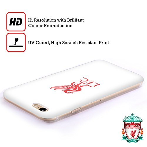 Officiel Liverpool Football Club Rouge Logo Sur Blanc Liver Bird Étui Coque en Gel molle pour Apple iPhone 6 / 6s Rouge Logo Sur Blanc