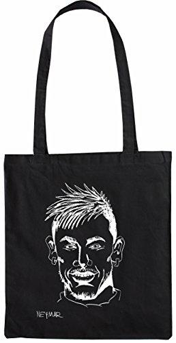 Mister Merchandise Tasche Neymar Stofftasche , Farbe: Schwarz Schwarz