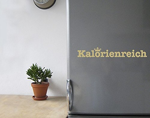Wandtattoo No.SF534 Kalorienreich Kalorien Küche Kühlschrank Kochen essen, Farbe:Schwarz;Größe:13cm x 90cm