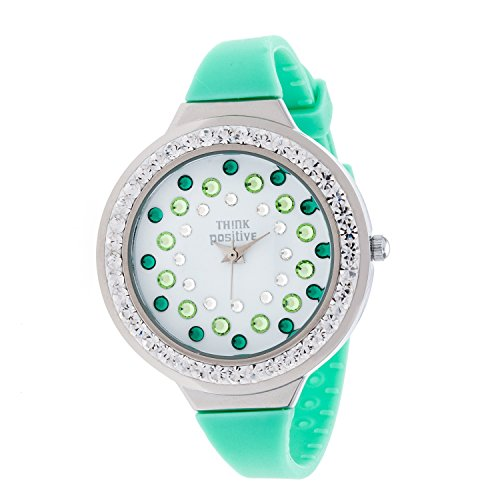ladies-think-positiver-modell-se-w116a-star-dust-tunnel-medium-stahlband-silikon-farbe-aquamarin