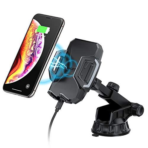 CHOETECH Caricatore Wireless Auto da Regolabile 7.5 W per iPhone XR/XS/XS Max/X / 8, Ricarica Wireless Auto Rapida 10W per Galaxy S10 / S10 + / S9 / S9 + / S8, 5W per Huawei Mate 20 PRO