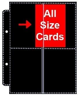 10, doppelseitig, 4 Taschen (insgesamt 8-fach) für Ultra Pro Ringbuch Trading Cards Schwarz für die Aufbewahrung von Mtg Magic Yu Gi-Oh! Wow Match Attax: Pokemon (Card-binder Mtg)