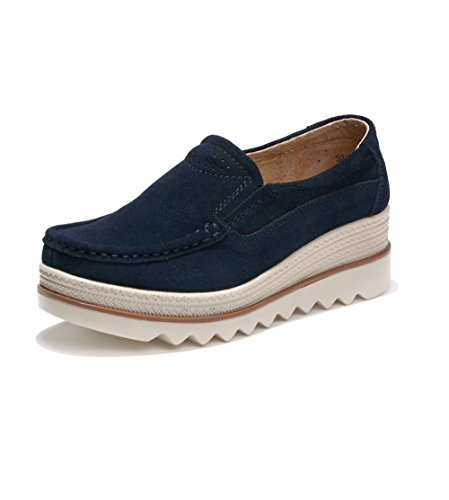 Mocasines Loafer, Mujer Plataforma Flat Casual Primavera