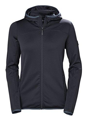Helly Hansen Womens Hybrid (Helly Hansen W Vertex Full-Zip Hooded Jacket, Graphite Blue, Large)
