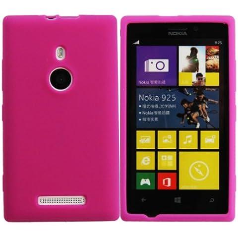 Luxburg® In-Colour Design funda protectora para Nokia Lumia 925 en color pink / rosa, funda carcasa de silicona