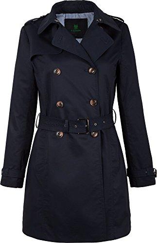 """F03 Damen Trenchcoat Kurzmantel """"Camille"""" (40, blau)"""