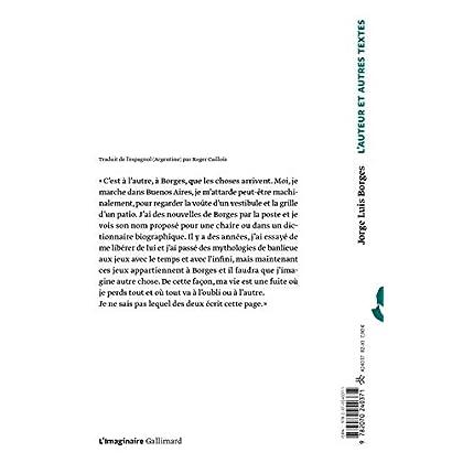 L'Auteur et autres textes: El Hacedor
