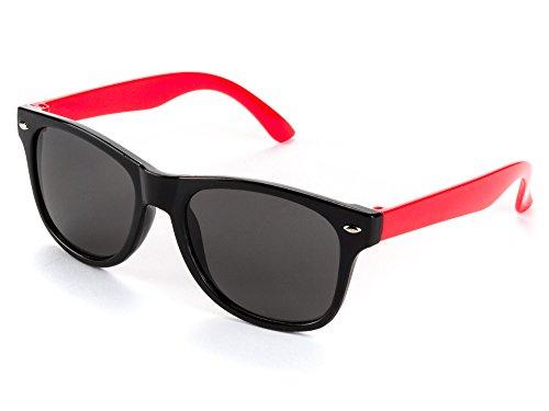 WHCREAT Kinder Wrap Sport Polarisierte Sonnenbrille Flexibel Gummirahmen mit Anti-Rutsch Band für Mädchen Jungen Alter 3-6 - Schwarz Gelb Rahmen Schwarz Linse 9afbq