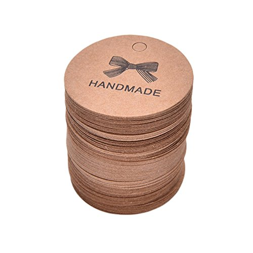 Dosige 100 x Colgante de regalo, Etiquetas colgantes, Etiquetas, Signos, Etiquetas colgantes de regalo (HANDMADE)