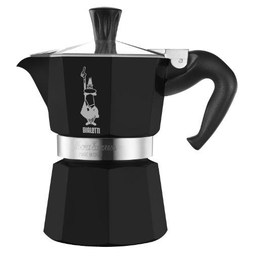 Bialetti Moka Express schwarz lackiert Espressokocher 3 Tassen Espresso Maker-3 Cup