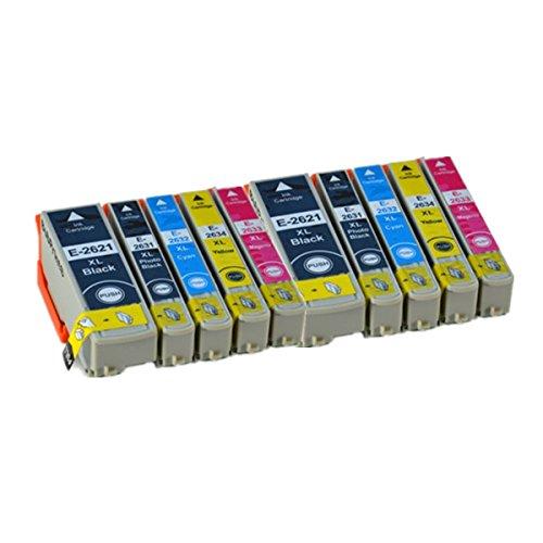 10 ECS cartucce di inchiostro di ricambio per Epson 26XL Expression Premium stampante XP-510 XP-520 XP-600 XP-605 XP-610 XP-615 XP-620 XP-625 XP-700 XP-710 XP-720 XP-800 XP-820