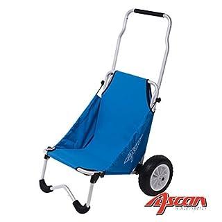 ASCAN Surf Buggy - für den Transport von Sport und Freizeit Zubehör, wie Surfboard Kanu, Kajak, Surfbrett – Zuladung 50kg 107 x 66 x 77cm, 4,7kg - kann als Sitz (100kg) verwendet werden.