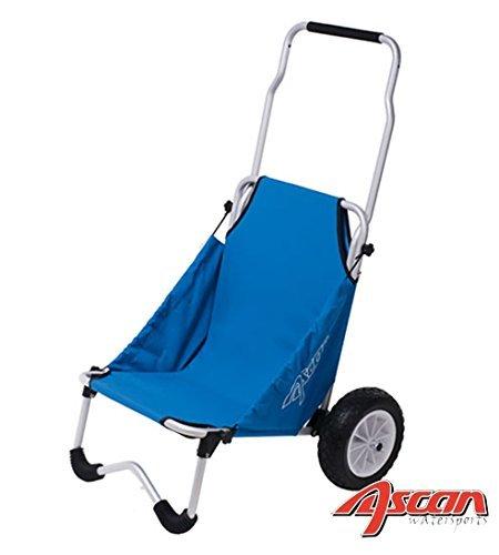 ASCAN Surf Buggy - für den Transport von Sport und Freizeit Zubehör, wie Surfboard Kanu, Kajak, Surfbrett – Zuladung 50kg 107 x 66 x 77cm, 4,7kg - kann als Sitz (100kg) verwendet werden. (Gun-boards Angel)