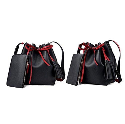 Frauen Geldbörse Und Handtasche Luxus Damen Business Schulter Tasche Mit Passenden Brieftasche Black