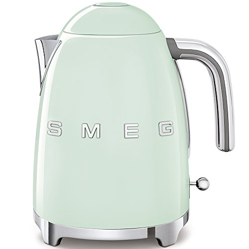 SMEG Elektrischer Wasserkocher KLF03PGEU, Chrom, Edelstahl, pastellgrün