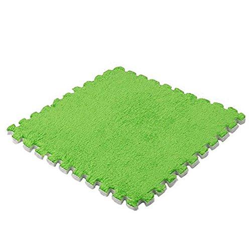 Weiche Baby Kids Schaum Puzzle Bodenmatte, Teppich Schaumstoff Spielmatte für Bodenschutz, Garage, Übung, Yoga, Spielzimmer (grün) - Schaumstoff Ineinander Greifende Matten