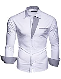 KAYHAN Homme Chemise Slim Fit Repassage facile, Manches Longues Modell - Krawattenhemd