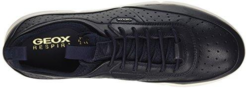 Geox U Brattley B, Baskets Basses Pour Homme Bleu (navyc4002)