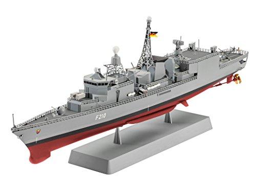Revell Modellbausatz Schiff 1:300 - German Frigate Class F122 im Maßstab 1:300, Level 4, originalgetreue Nachbildung mit vielen Details, 05143