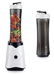 Standmixer Universalmixer Smoothie Mixer Blender Zerkleiner Ice Crusher 300 Watt Farbe Schwarz 2 Trinkflaschen