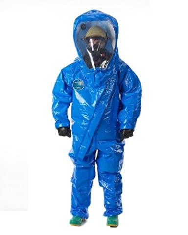 Lakeland Interceptor Fully Encapsulated Front Entry Level A Vapor Protective Suit, Disposable, Medium, Blue by Lakeland Industries