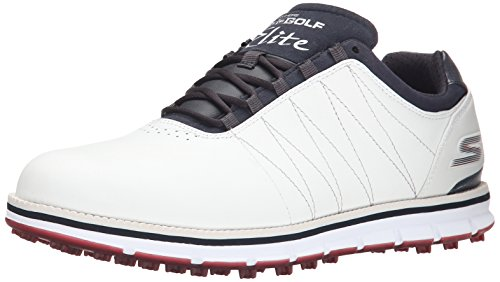 2016-skechers-go-golf-elite-leather-mens-golf-shoes-waterproof-white-navy-85uk