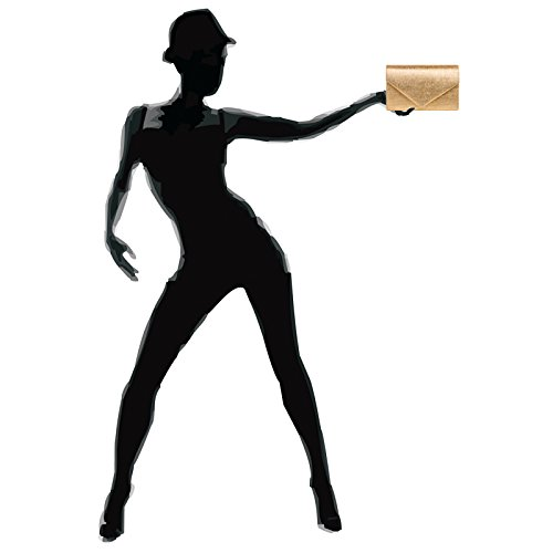 CASPAR TA403 elegante Damen Envelope Clutch Tasche / Abendtasche mit langer Kette roségold