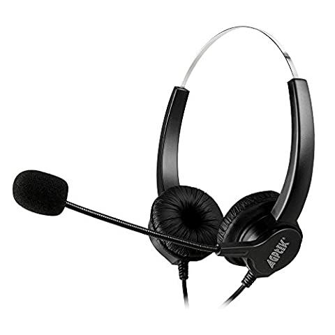 Binaural 2.5mm jack Headset, AGPtek 6FT Hands-Free Noise Cancelling Binaural