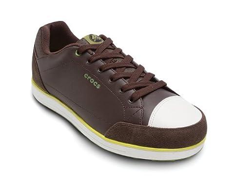 Crocs - - Herren Karlson Golf Schuh, EUR: 41, Espresso/Citrus