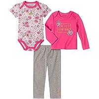 طقم بناطيل أطفال من جوسي كوتور - 3 قطع Pink/Print/Gray 18 شهر