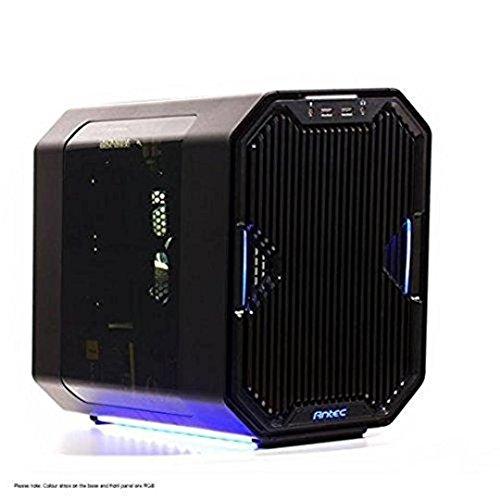 Antec Cube Cubo Negro Carcasa de Ordenador - Caja de Ordenador (Cubo, PC, Aluminio, Acero Inoxidable, Mini-ITX, Negro, Juego)
