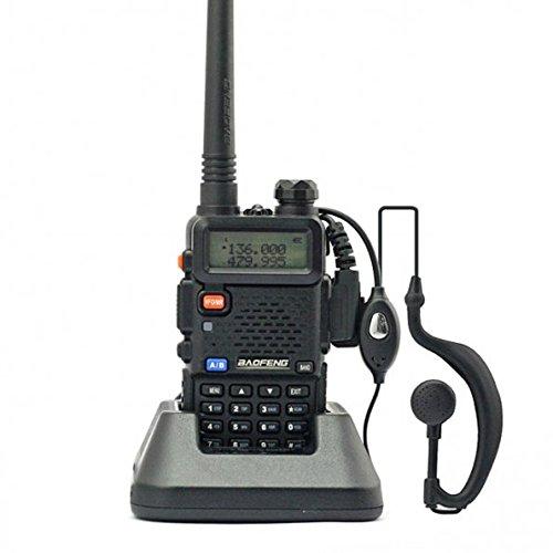 Baofeng UV-5R Talkie walkie/Walkie-talkie Interphone ricetrasmettitore Two Way FM radio VHF/UHF Dual -Band 136-174/400-480 MHz + Cuffie