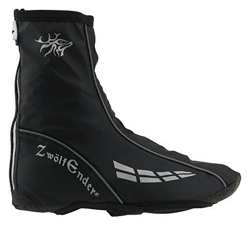 ZWÖLFENDER Regen Überschuh Pawnee schwarz Spritzschutz Regenschutz Gamaschen (XL)