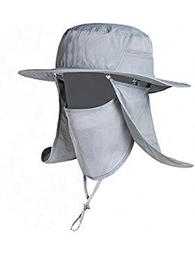 Cappello Uomo Visiera Grande Cappello A Tesa Larga UV Cappello Arrampicata All'aperto Cappello Del Sole Del Cappello...