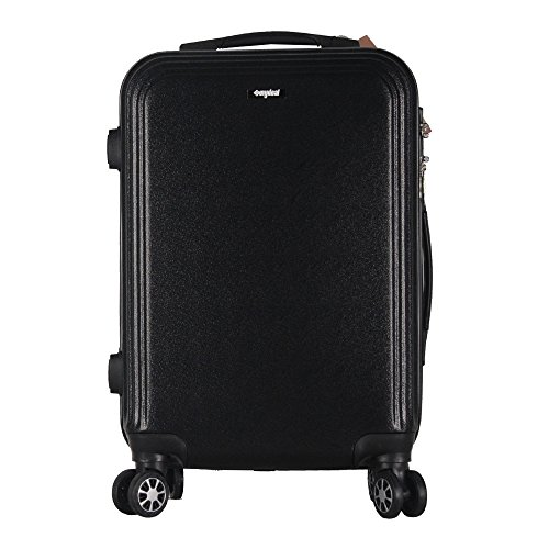 sunydeal-abs-hard-shell-luggage-trolley-bag-case-super-lightweight-4-wheel-spinning-suitcase-20-blac