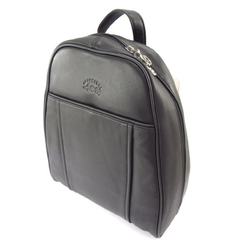 Francinel [K4351] - Sac à dos cuir 'Vendôme' noir - 31x27x10 cm