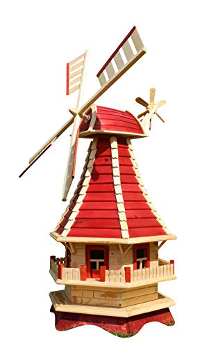 Große Windmühle  rot/natur Typ 3