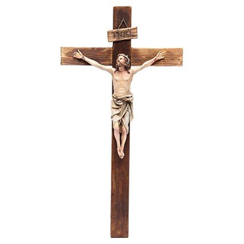 Kruzifix aus Terrakotta 45x24cm Angela Tripi