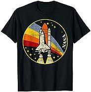 NASA Shuttle Launch Into Rainbow Premium Graphic T-Shirt