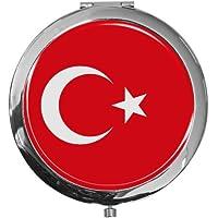 """metALUm - Extragroße Pillendose in runder Form""""Flagge Türkei"""" preisvergleich bei billige-tabletten.eu"""